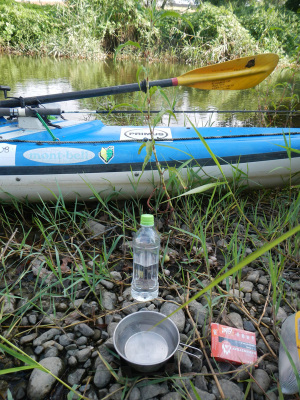 紀の川カヌーバス釣り