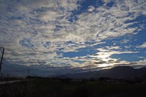 龍門山の朝