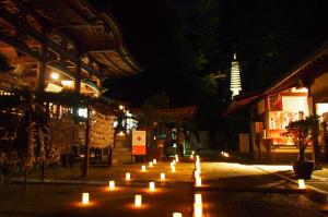 明日香村岡寺ライトアップ