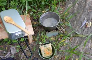 メスティンでご飯を炊く