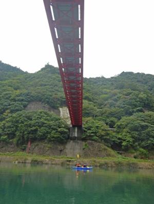 椿山ダムカヌー