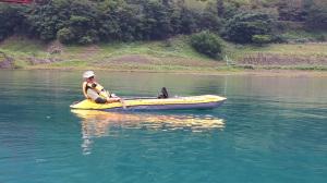 椿山ダムカヌー漕ぎ漕ぎ